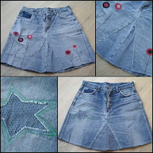 Lav slidte jeans om til en nederdel