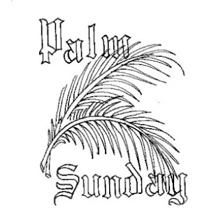 Children coloring page for Palm Sunday with beautiful Palms free Jesus Christ images and religious coloring pages download