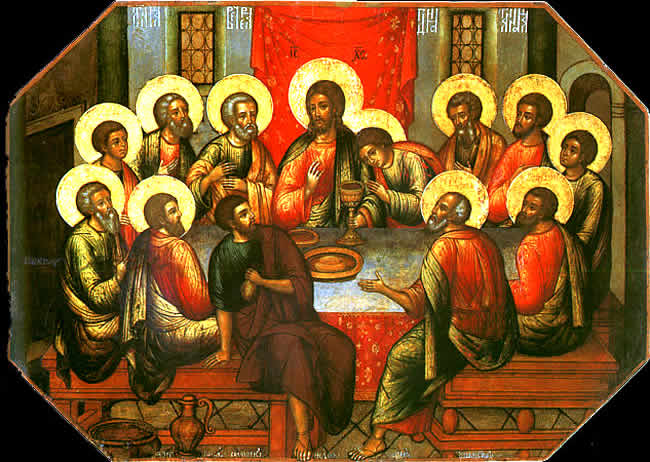jesus with his twelve apostles