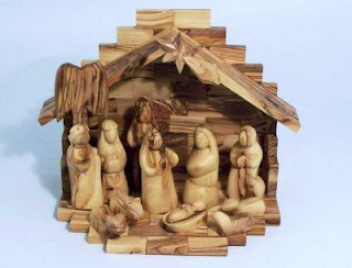 Jesus Born in Manger nativity scene wooden clip art free Christian Christmas picture download