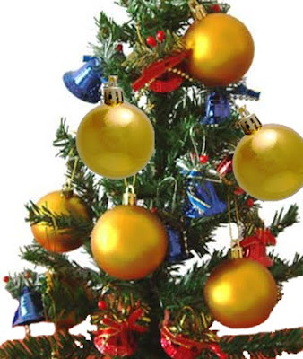 Very beautiful Christmas ornaments big yellow Christmas balls(baubles) decorated to the Christmas tree hd(hq) desktop Christian Christmas wallpaper download for free