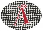 "Houndstooth ""A"" Decal"