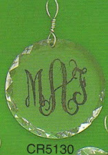 Engravable Crystal Pendant $15 plus $5 for monogramming
