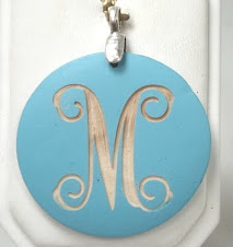 Turqoise Wood engravable Pendant $9 plus $5 for monogramming