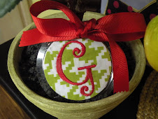 Lime Green Houndstooth Christmas Ornament $10