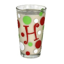 Monogrammed Christmas Glasses 1-$8 set of 4 $30