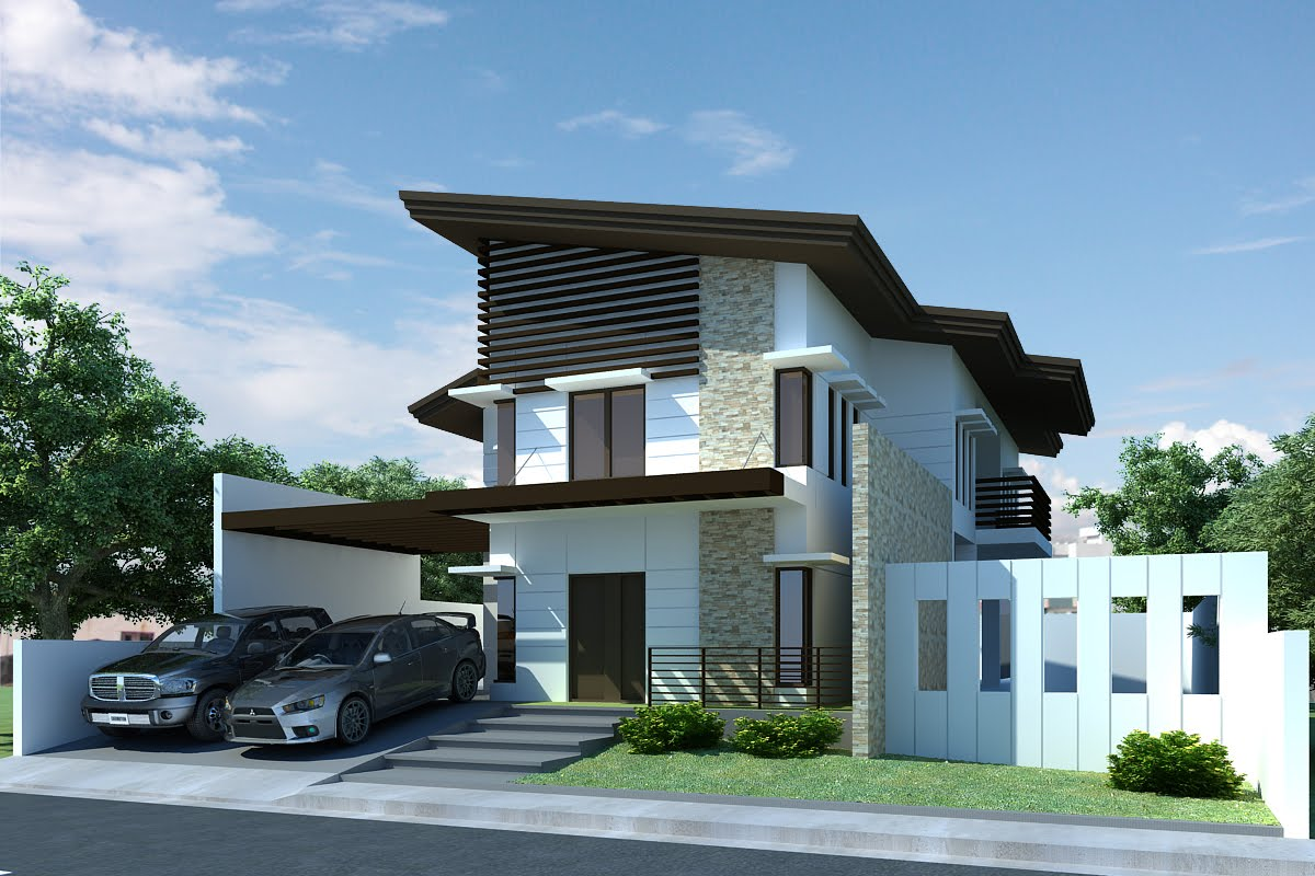 2 storey modern home for Modern 2 storey house