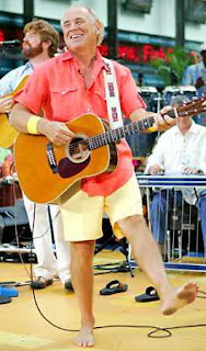 Jimmy Buffett falls off stage