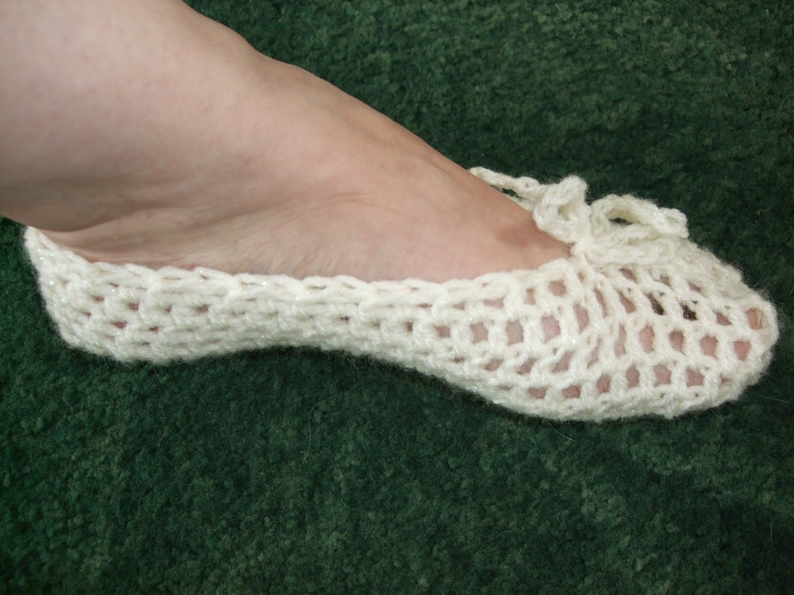 Channelle\'s Crochet creations: Quick & Easy Ladies Ballet Slippers
