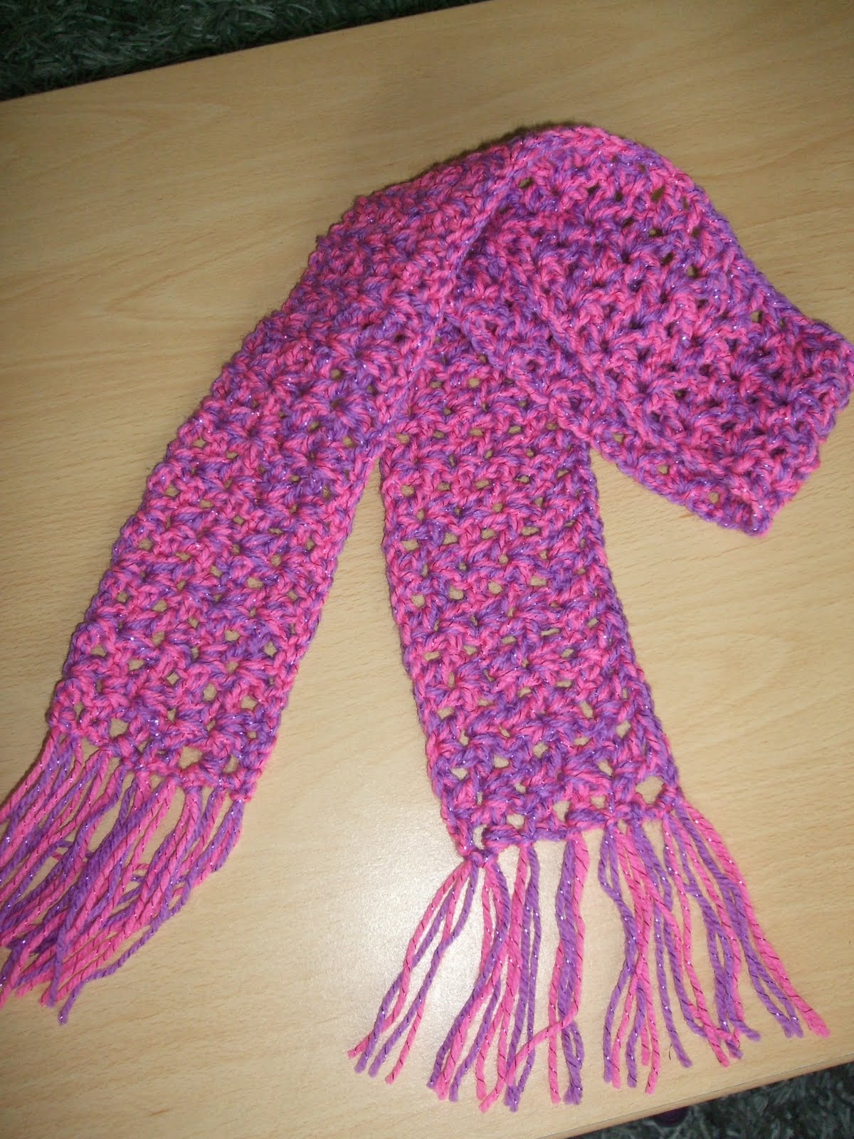 Channelles Crochet Creations Toddlers Scarf