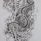 Dragons Flash Tattoos Designs
