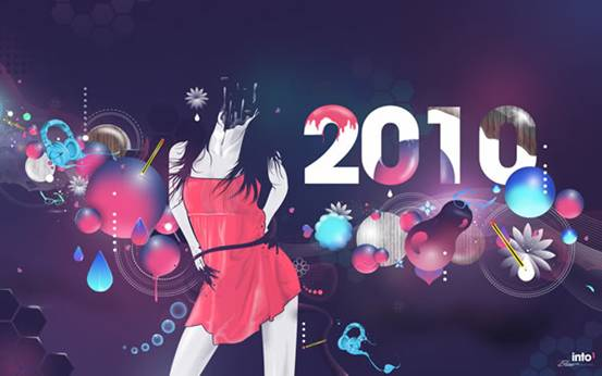 Trik SEO HAPPY NEW YEAR 2010 WITH WALLPAPER