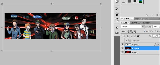 Trik SEO Membuat Background  Dengan Efek Cahaya Menggunakan Beberapa Element Gambar