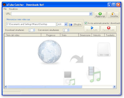 aTube Catcher - Lista dei downloads