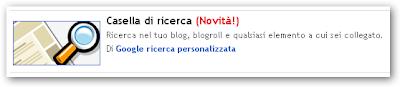 Blogger - Motore di ricerca