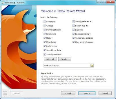 FavBackup - Firefox