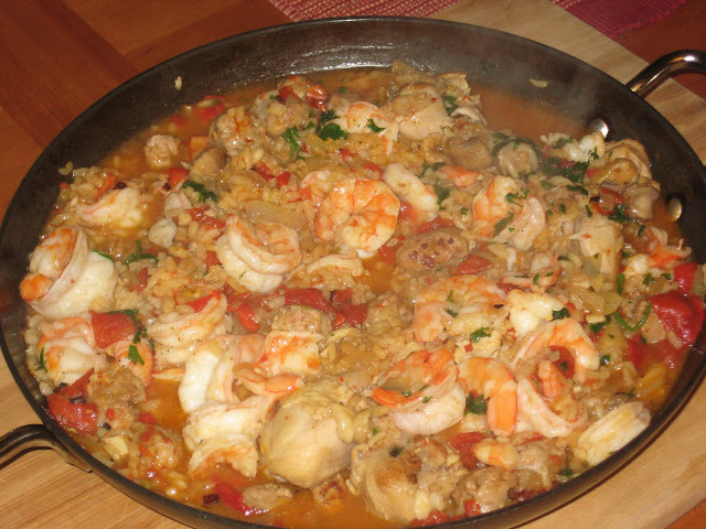 ... Michigan Slow Food Review: Shrimp, Chicken and Sausage Paella