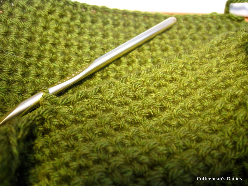 Crocheting Problems : ... Dailies: Fabric Loot and The Green Crochet Monster Problem SOLVED