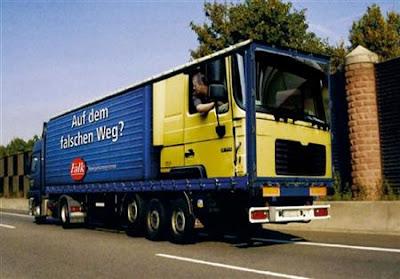 Camión al revés