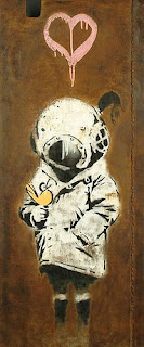 Banksy Space Girl and boy