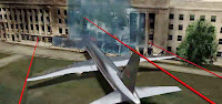 Trayectoria avión pentágono