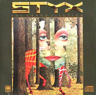 ilusión óptica portada disco styx