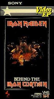 Portada Iron Maiden behind the iron curtain