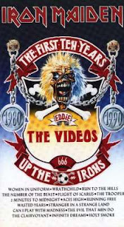 Portada Iron Maiden the first ten years videos