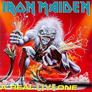 Portada Iron Maiden a real live one
