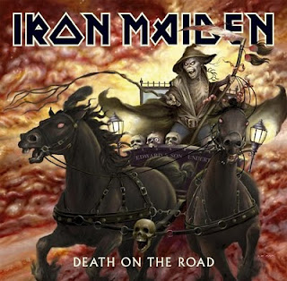 Portada Iron Maiden death on the road