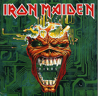 Portada Iron Maiden virus