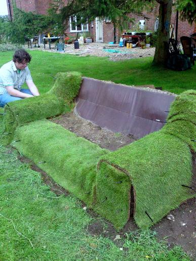 Sofa Rumput - Hiasan Taman Mesra Alam