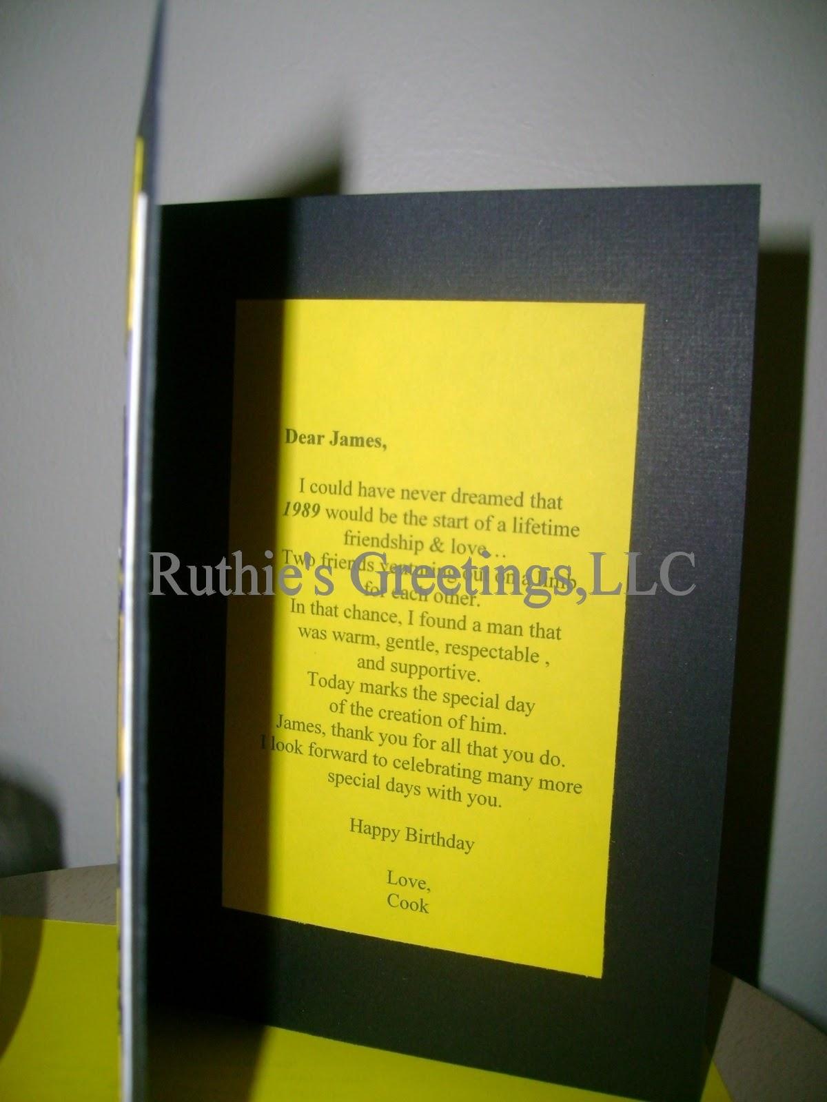 Football Uniform Yellow Black Handmade Birthday Card