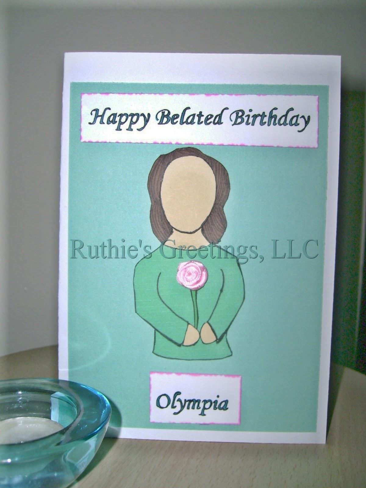 Handmade Sister Birthday Card