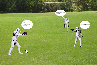 Stormtroopers : Not the best guards nor soccer players!