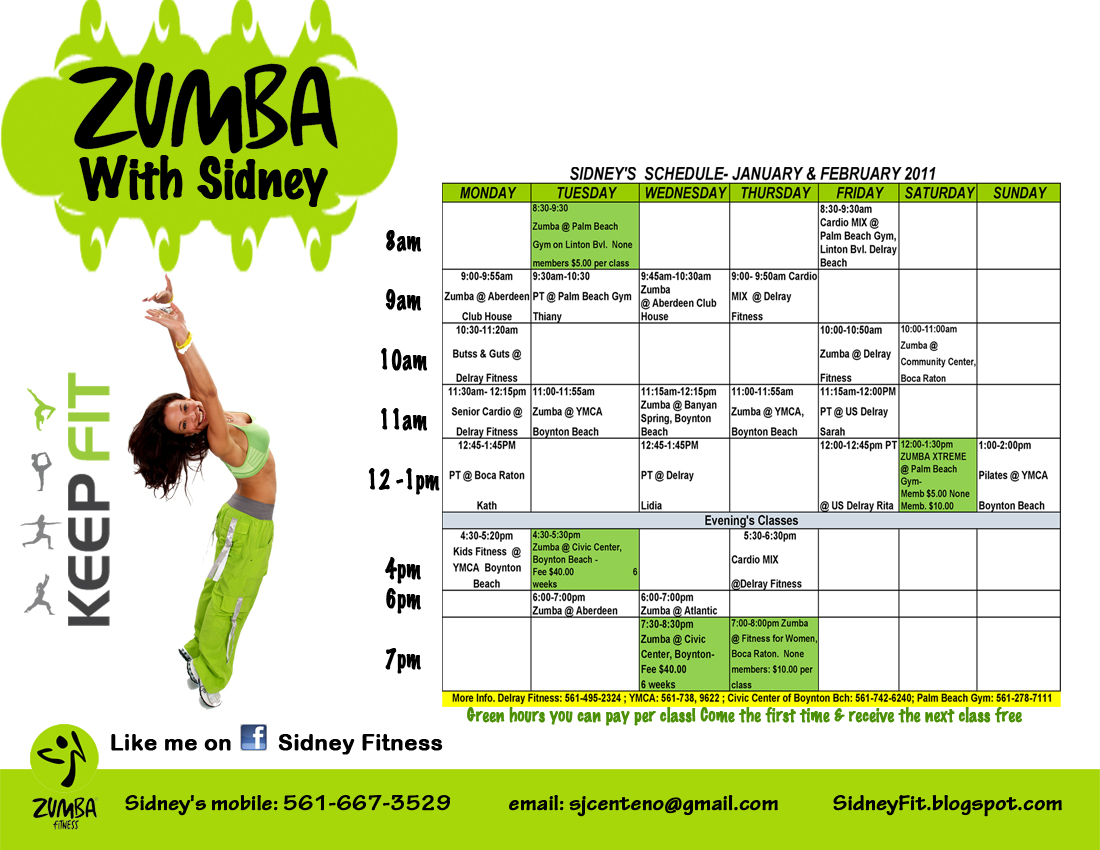 1100 x 850 jpeg 460kB, Sidney Fitness: ZUMBA XTREME WITH SIDNEY AND ...