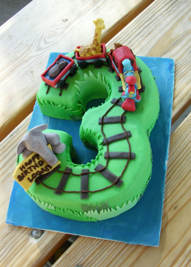 Zoo Train Birthday Cake