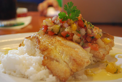 Bubba Gump Surgeonfish with Mango Pineapple Salsa