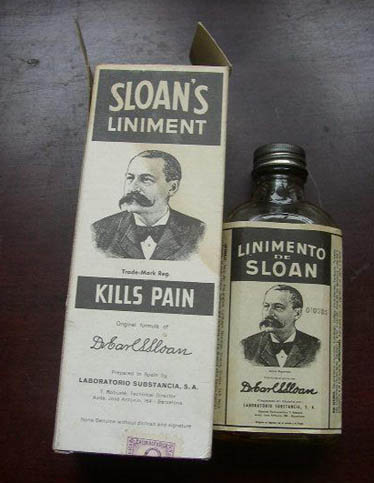 ¿Dolores musculares? ¡Linimento Sloan!