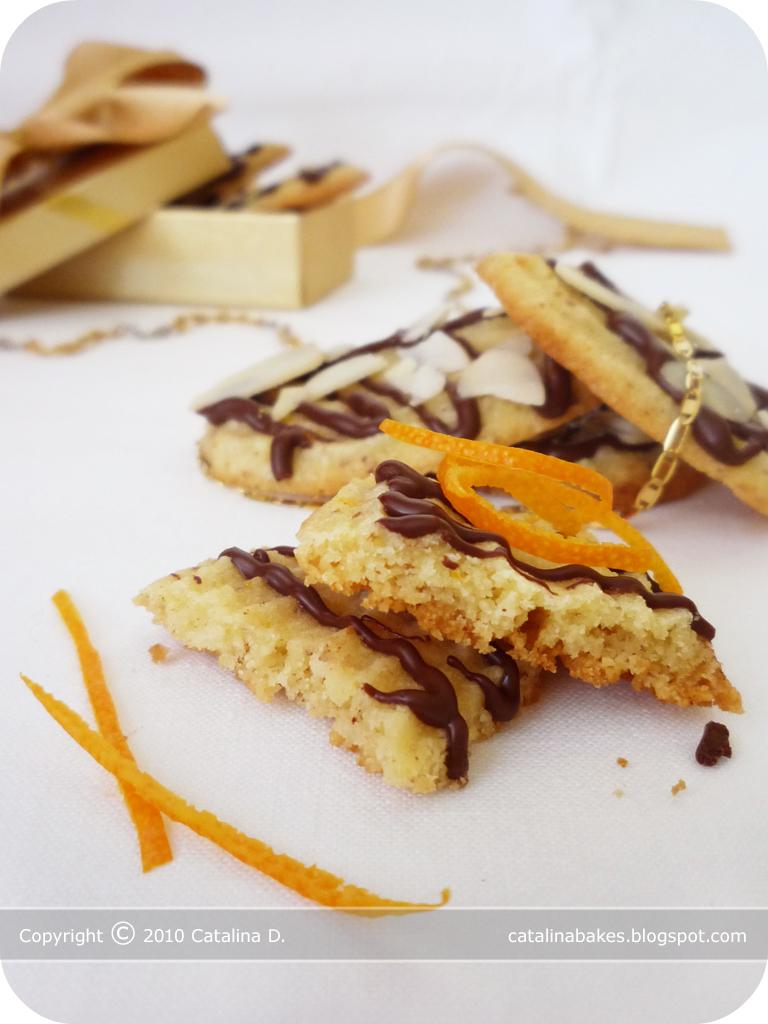 Catalina Bakes: Orange Almond Cookies with Dark Chocolate