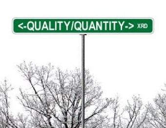 is quality the only criteria on social media?