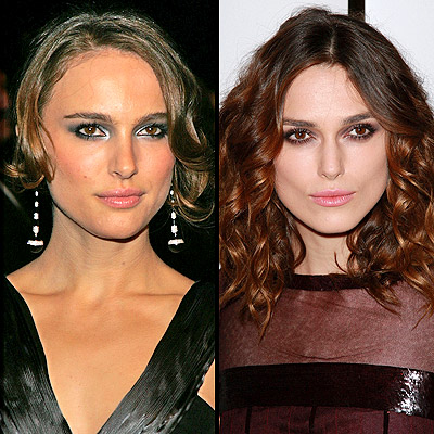 facial features difference natalie portman keira knightley 