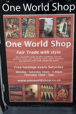One World Shop sign