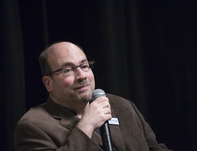 Craig Newmark with microphone