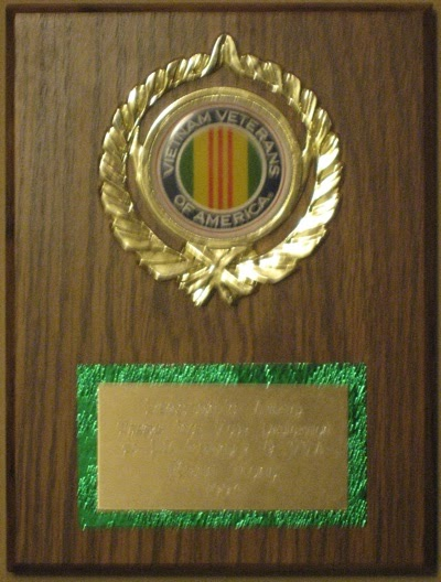 President's Award Thanks For Your Dedication to LZ Friendly & VVA Kenn Fong 1994