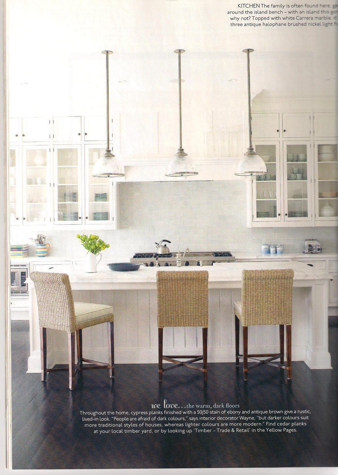 A dream house for trish dream kitchen inspiration for House beautiful kitchens