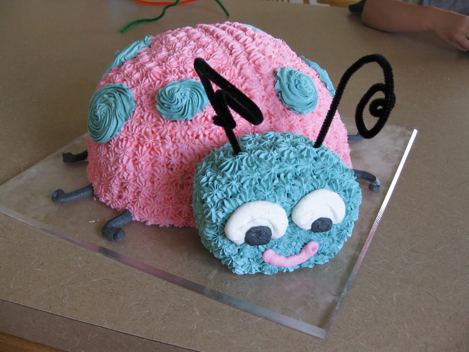 Simply Sweet Cakes Pink Ladybug Cake With Smash Cake