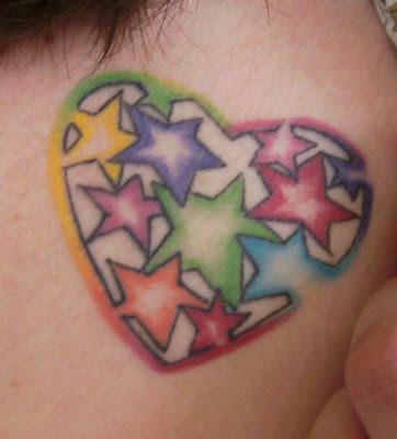 tattoo design trend colorful heart tattoo design. Black Bedroom Furniture Sets. Home Design Ideas