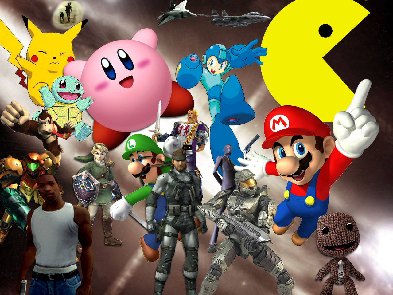 Heart Attack Wallpapers: Video Game Character Compilation ... Video Game Characters
