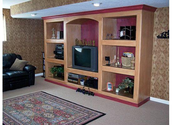 Living Room Wall Unit Built